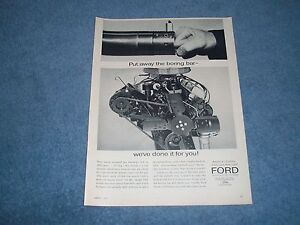 Details about 1964 Ford 289 271-hp K-Code Engine Ad