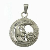 Stainless Steel Jewerly Moon Eyes And Sun Flower Smile Pendant No Chain