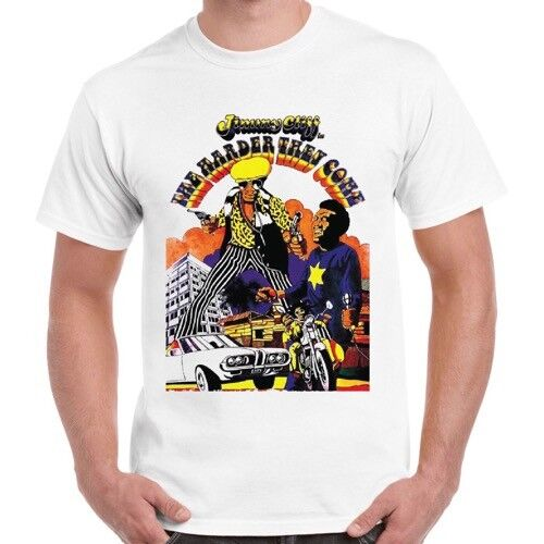 The Harder They Come Poster 70 S Jimmy Cliff Film Reggae Musique rétro T shirt 477