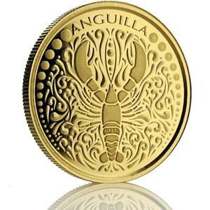 2018 1 oz Anguilla Lobster .9999 Gold Coin BU in Certi-Lock #A476