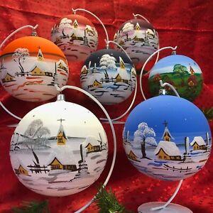 Weihnachtskugel MAXI Fensterkugel Glaskugel Riesenmurmel Glas Handarbeit Lauscha