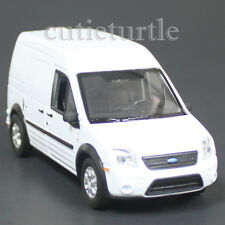 """4.25"""" Welly Ford Transit Connect Van Wagon Diecast Toy Car White"""