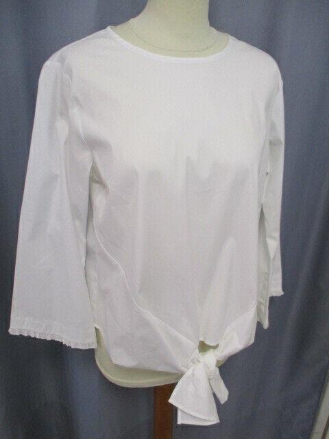 1863 by Eterna 5412 00 RP03  Attraktives Blausen Shirt Weiß Uni, vorne zum Knoten
