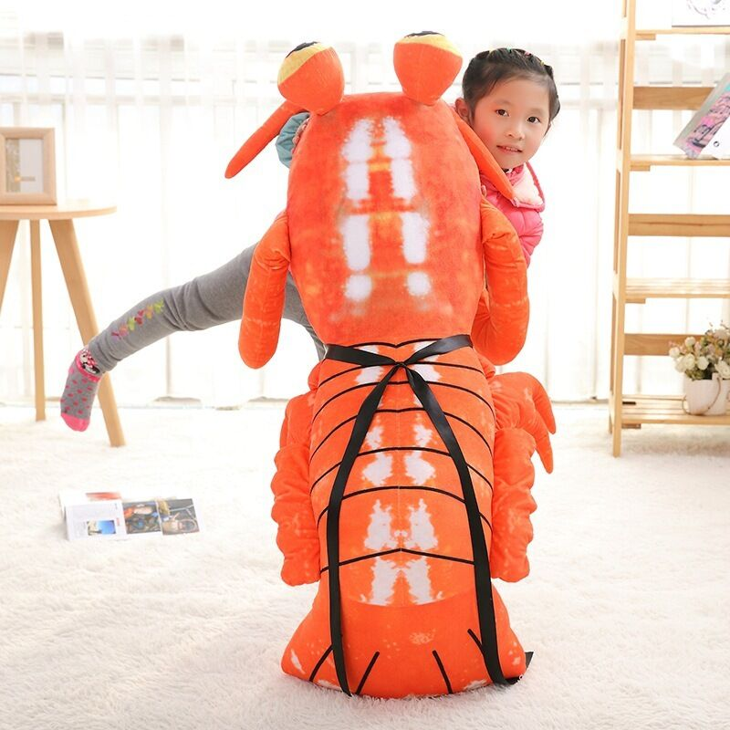47'' Giant hung big Lobster Anime Mantis Shrimp Soft Plush Stuffed Toy doll gift