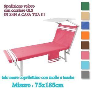 Telo-Mare-per-sdraio-lettino-con-Tasche-e-Molle-COTONE-Fouta-VIVY-VICTORIA