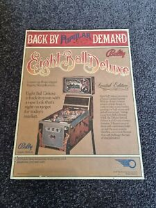 Eight Ball Deluxe Limited Edition - Bally Pinball Promotional Flyer - last one