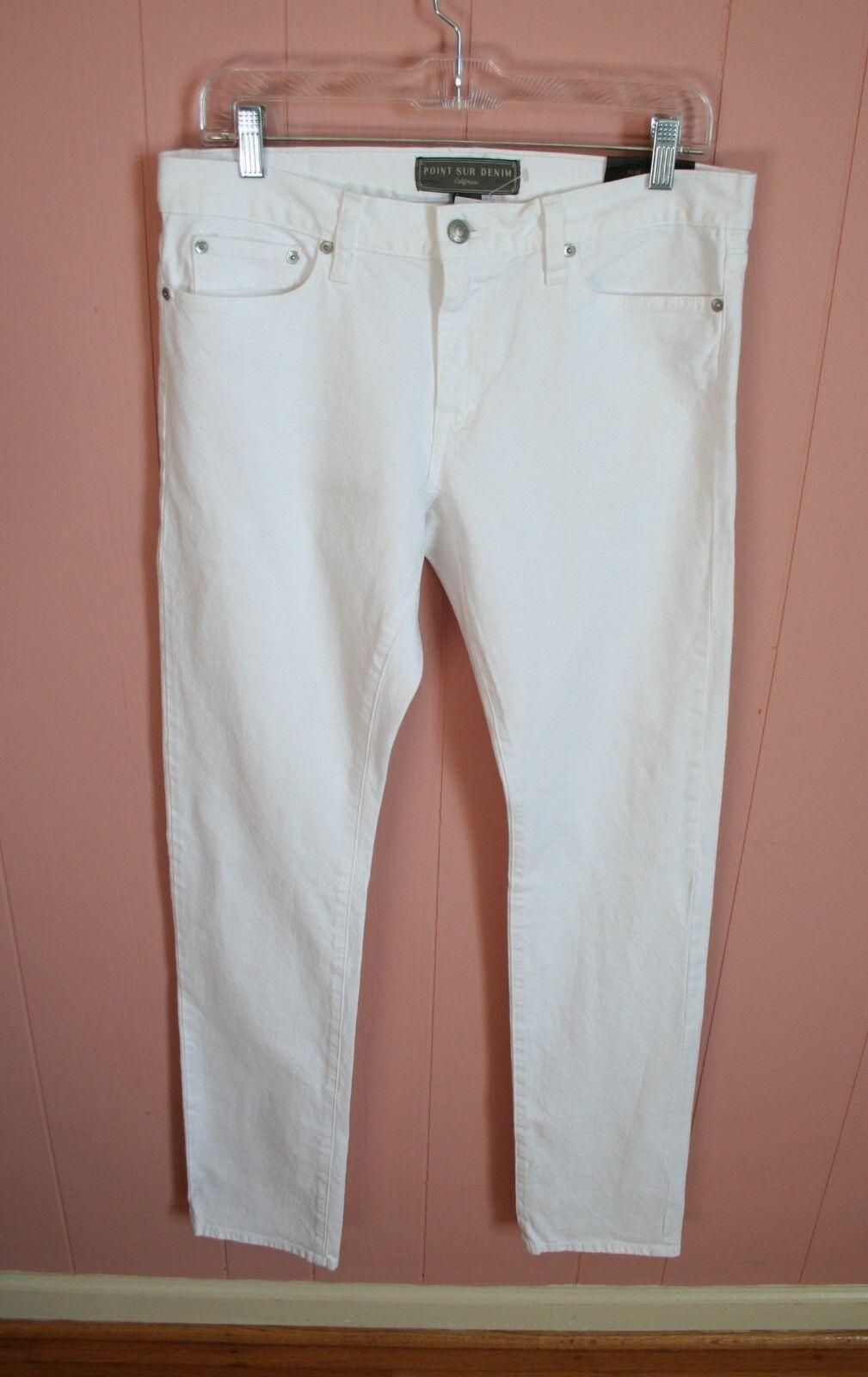 Point sur Slim Stacker Japanese selvedge Jean 29 8 Blanc Denim Jeans JCrew