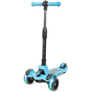 boy-girl-led-flashing-Scooter-Kids-Deluxe-3-Wheel-Glider-Kick-Go-Lean-2-Turn