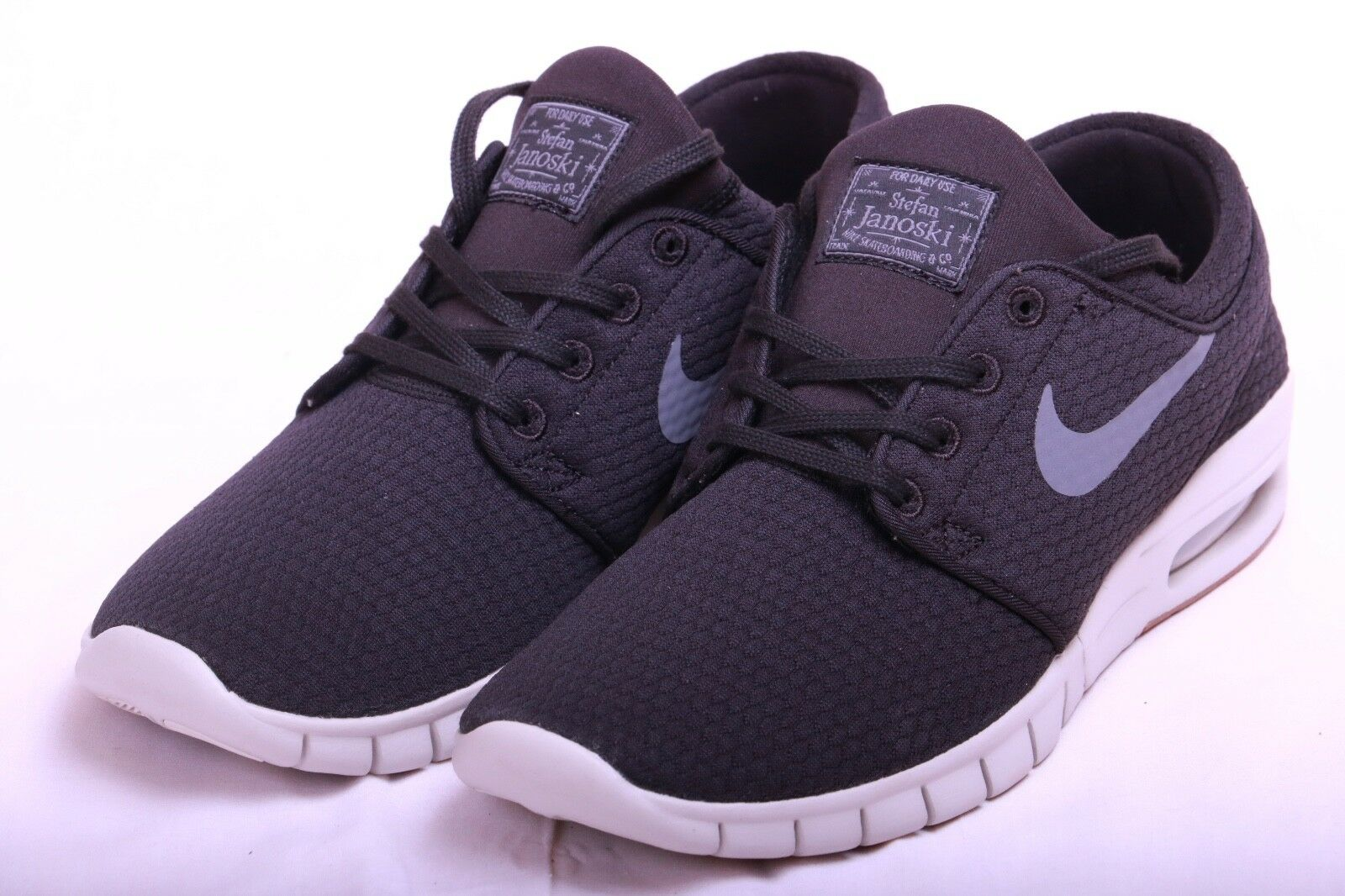 Nike Men's SB Stefan Janoski Max Black Dark Grey Grey Grey 631303 020 Size 9.5 705e82