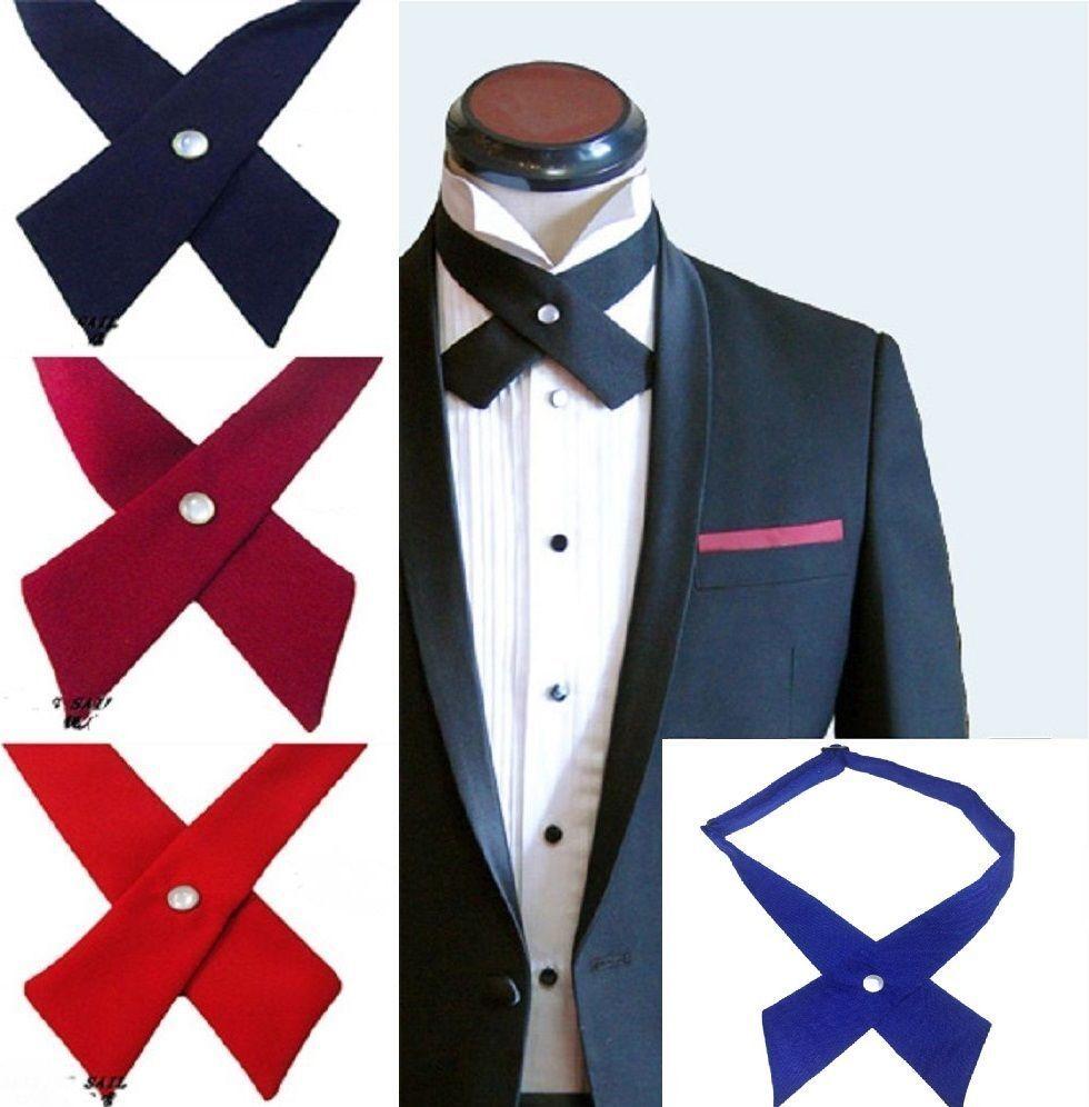 Unisex Cross Bowtie Mens Necktie Cravat Bow Pre Tie Adjustable bow tie