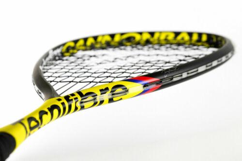 TECNIFIBRE Carboflex 125 Cannonball Squash Raquette avec gratuit Couverture Serviette /& Grip