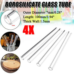 4Pcs-100mm-OD-7mm-1-5mm-Thick-Wall-Borosilicate-Glass-Blowing-Tube-laboratory