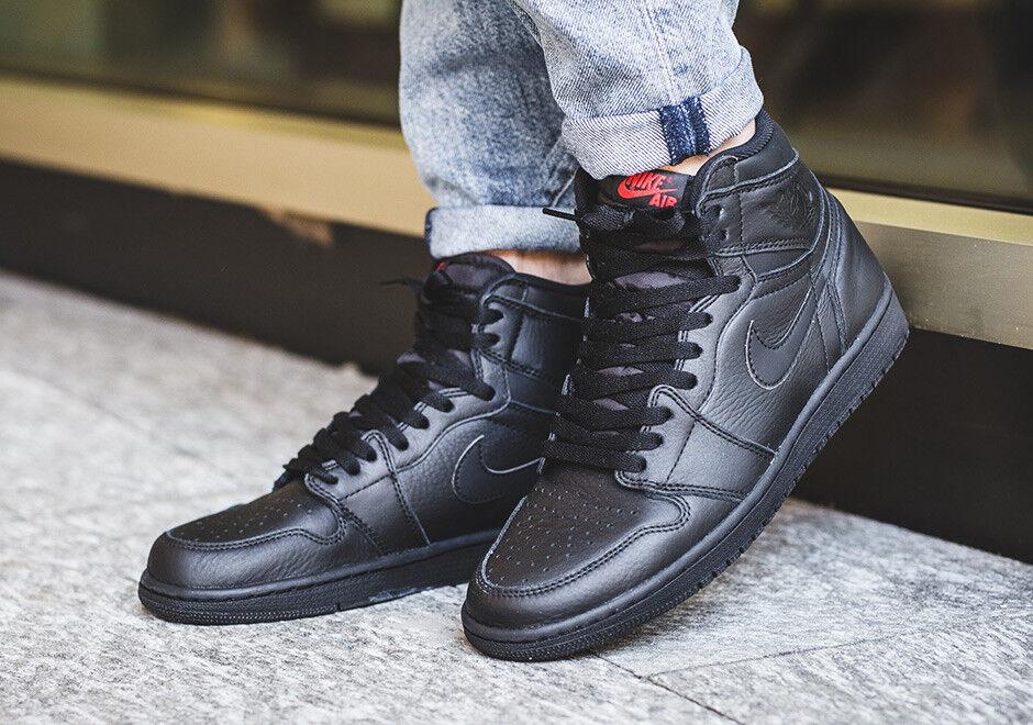 Nike Air Jordan 1 Retro High OG sz 7.5. Premium Essentials Black Red 555088-022