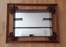 Mid Century Vintage Turner Wall Accessory Mirrored Curio Display Wall Shelf