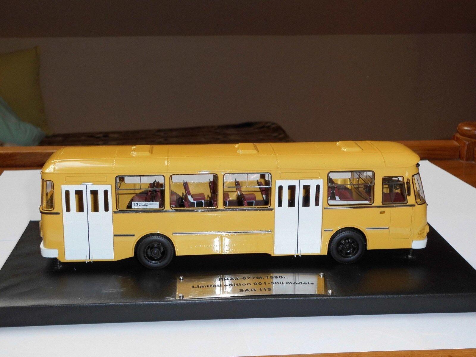 100% a estrenar con calidad original. Autobús LIAZ - 677m, 677m, 677m, 1,43, modelo de serie, lim.500 St.  El ultimo 2018