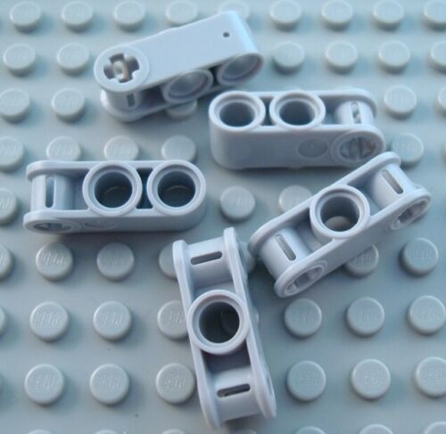 LEGO Lot of 5 Light Bluish Gray 3L Technic Pin Hole Connector Pieces