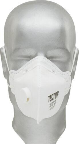 Tector Feinstaubmaske FFP2 Ventil seitlich Staubmaske Atemschutzmaske 1 - 144 St