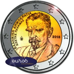 Piece-de-2-euros-commemorative-GRECE-2018-Disparition-Kostis-Palamas-UNC