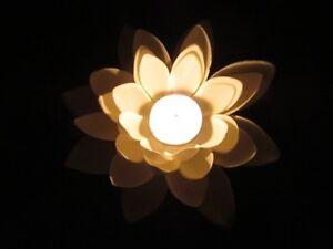25 White Floating Lotus Flower With Candle Wedding Decoration Ebay
