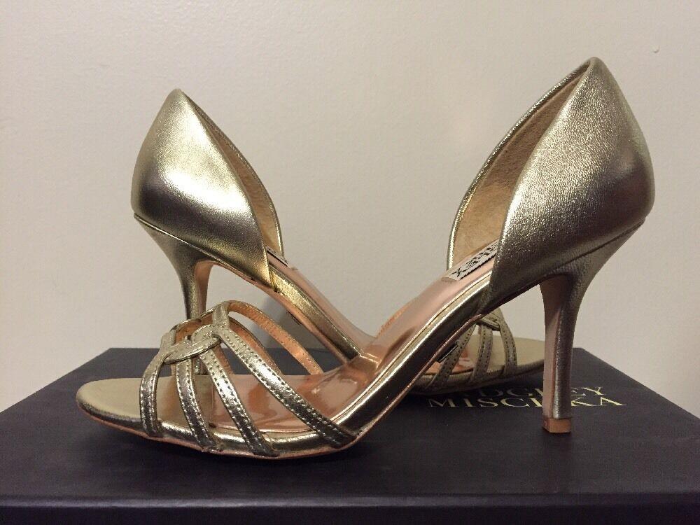 Badgley Badgley Badgley Mischka Kennedy Platino Cuero para Mujeres Elegante Noche Tacones Sandalias De 6 M  ¡No dudes! ¡Compra ahora!