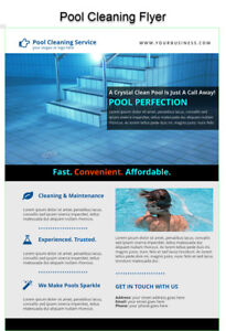 Pool Cleaning Service Marketing Pack Flyer Postcard Video