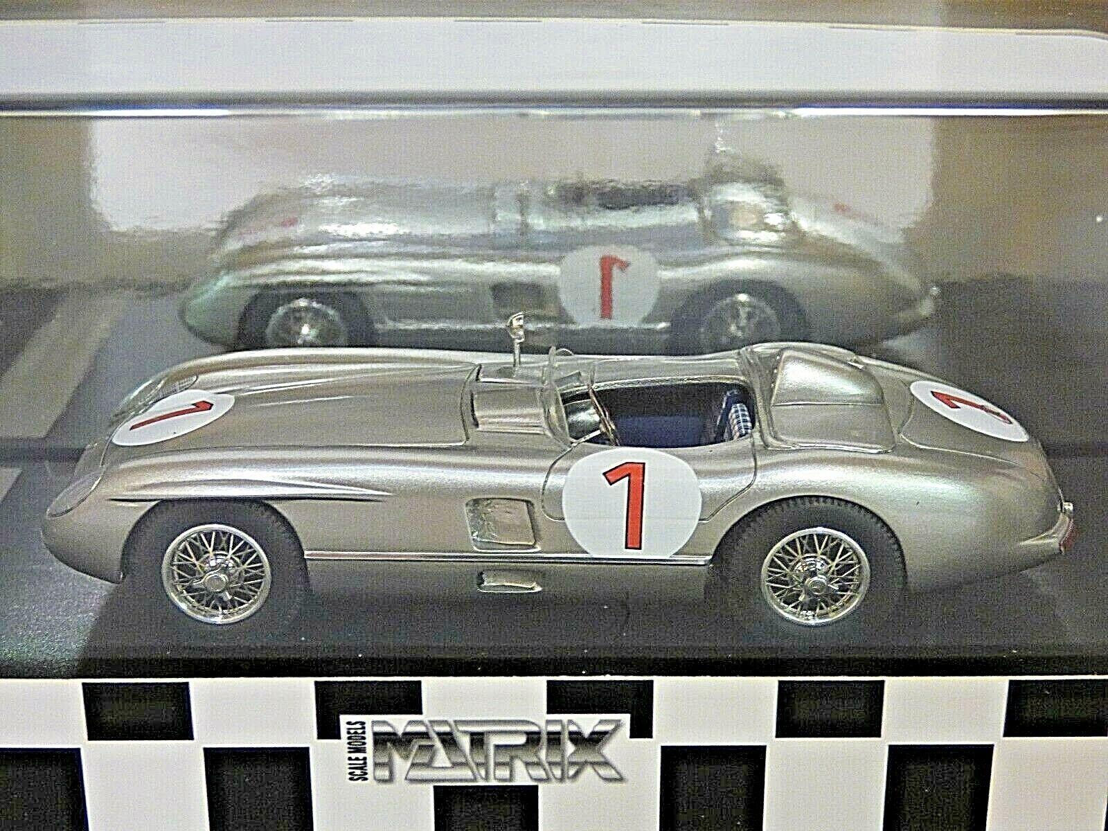Matrix Mercedes-Benz 300SLR Zweden Grand Prix Winner 1955 J. M. Fabgio