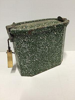 Antik Dose Aus Metall Farb- Grüner H 12,5 L 15 L 8 Cm Attraktive Mode
