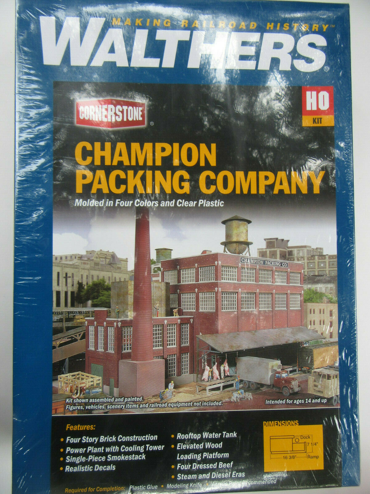 Walthers estados unidos 3048 Champion packing matadero kit plástico