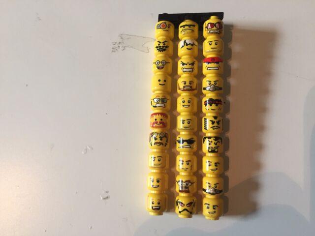 30 LEGO MINIFIGURE YELLOW HEADS LOT
