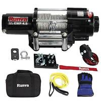 Runva 4500 Lbs Electric 12v Atv Utv Power Tow Winch Master Recovery Kit on sale