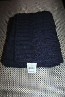 Olimpia Mens Designer Wool Blend Scarf Color Navy Blue Rp $135.00 One Only