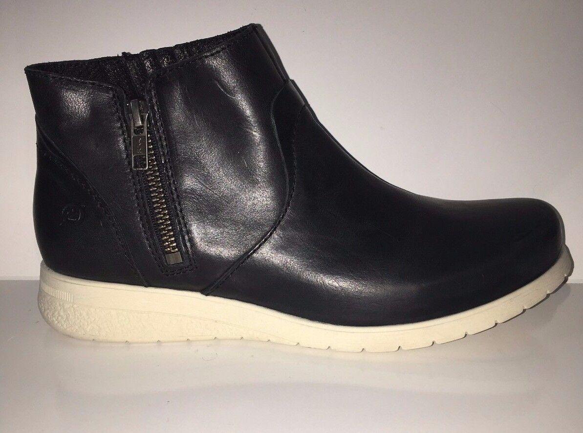 New Born Kaori noir pleine fleur D90209 Femme Bottes Chaussures sz 9.5
