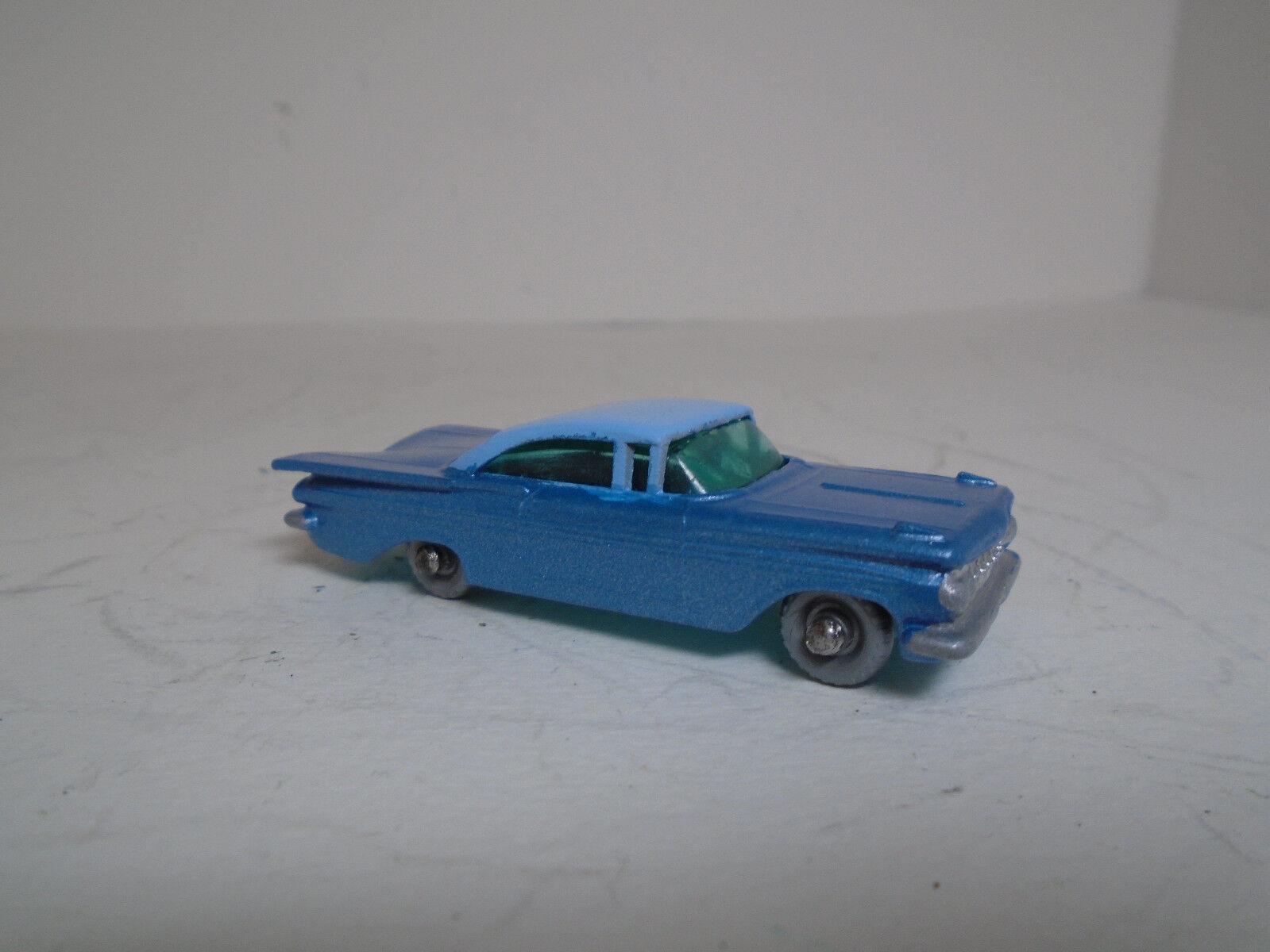Lesney Matchbox  57B Chevy Impala, resto-Mod Azul metálico cuerpo Aqua Base Con Cochero