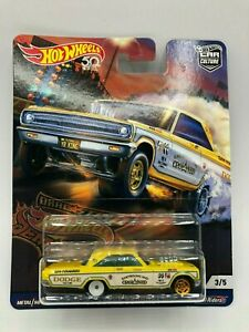 HOT WHEELS DRAGSTER DEMONS 1965 DODGE CORONET REAL RIDERS 3//5