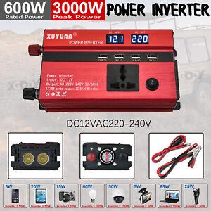 Spannungswandler-DC12V-AC220V-3000W-Wechselrichter-PKW-KFZ-Inverter-Wohnwage-U2