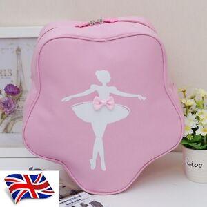 UK-SELLER-Pretty-New-Lovely-Girls-Kids-Pink-Star-BALLET-DANCING-bag-Backpack