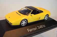 Herpa 1/43 Ferrari 348 ts gelb in Plexi-Box #1411