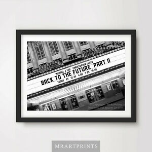 BACK-TO-THE-FUTURE-2-Art-Print-Poster-Cinema-Sign-Marquee-Movie-Film-Marty-McFly