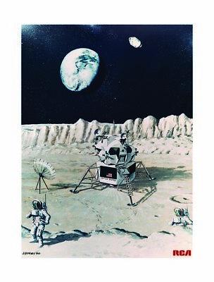 NASA 1969 Apollo 11 Moon Mission Landing Tech Writer Art Print Poster Space