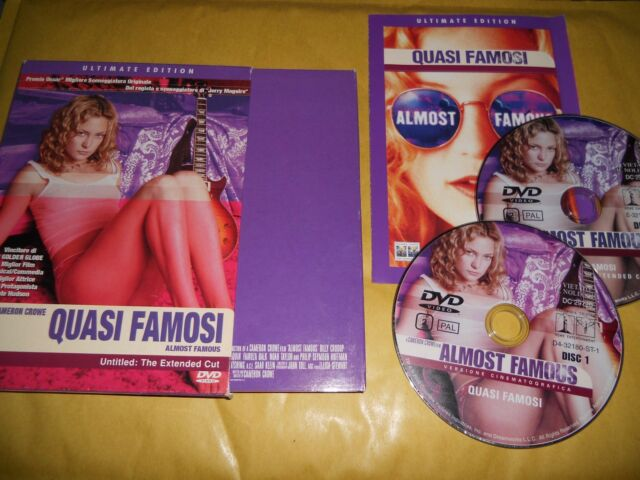 DVD-QUASI FAMOSI-ULTIMATE EDITION-COFANETTO 2 DISCHI-CROWE-2001