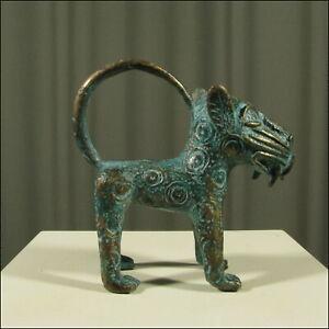 59523-Afrikanische-Bronze-Leoparden-Figur-Kamerun-Afrika-KUNST