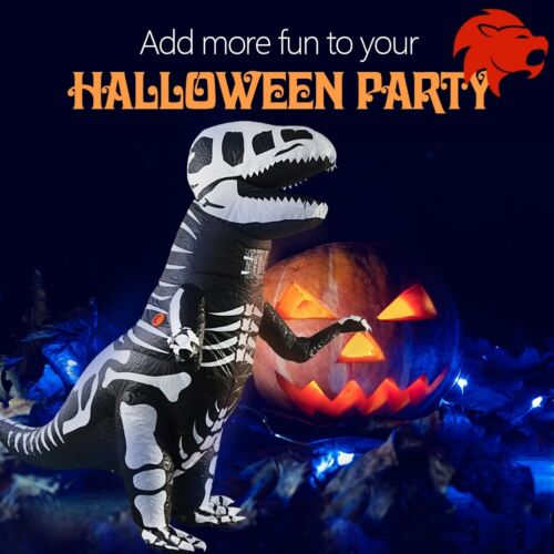Kid Halloween Party Inflatable Dinosaur Costume Skeleton T-Rex Cosplay Outfit