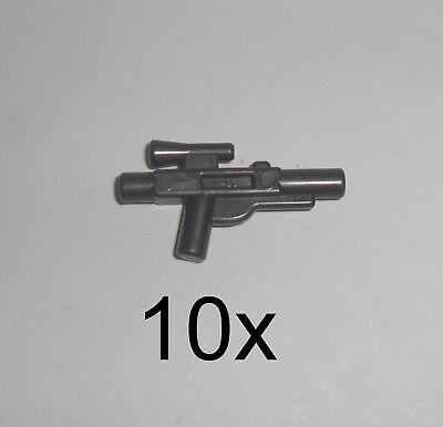 Black LEGO® 10 Short Blaster Kleiner Waffe in Schwarz NEU 58247