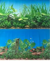 Aquarium Background Decoration 2 Sided Plants Aquarium 96 X 23