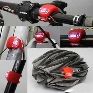 1pcs Cycling Front Rear Tail LED Light Silicone Headlight Warning Flashlight Pop