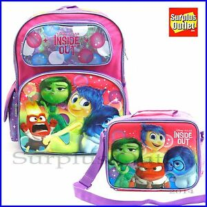 "Inside out 16"" Large School Backpack Girls Book Bag Lunch Bag ..."