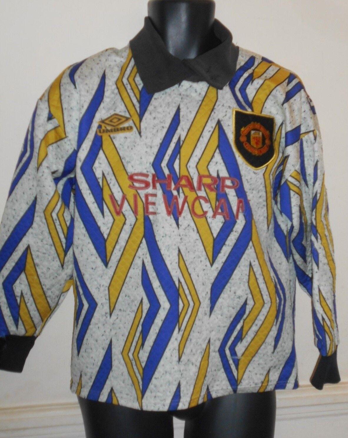 Raro Manchester United objetivo guardianes Camiseta de fútbol 1993-1994 pequeños para hombres  1032