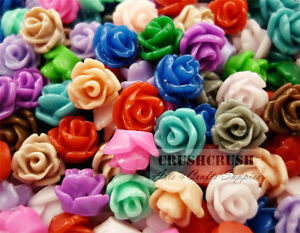 40pcs-Tiny-Resin-ROSES-FLOWER-Flat-Back-Cabochons-Nail-Deco-Flatbacks-Rose-F1201