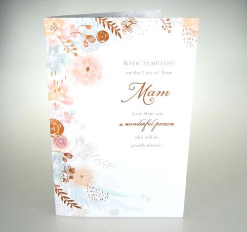 Avec sympathie sur la perte de Votre Mère condoléances carte avec très belle mots.