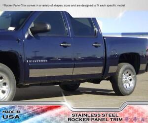 Stainless Steel 6 Rocker Panel W Flares 11pc Chevy Silverado Ext Cab Sb 99 02 Ebay